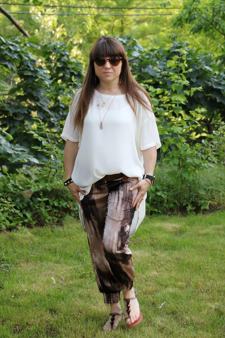 Printed Silk Pants - Guess