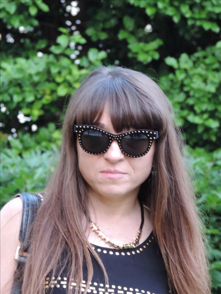 Flocked Velvet Studded Sunglasses - Italia Independent