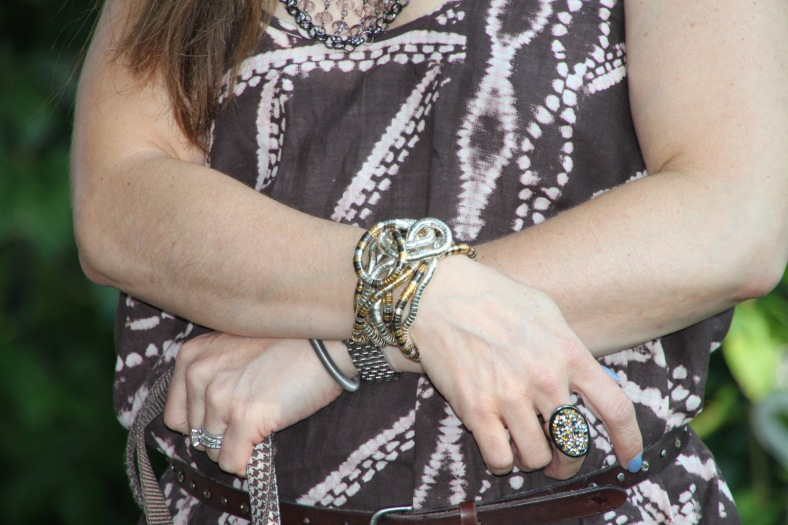 Bracelets - Bought on the street in Nice, FR Ring - Lia Sophia