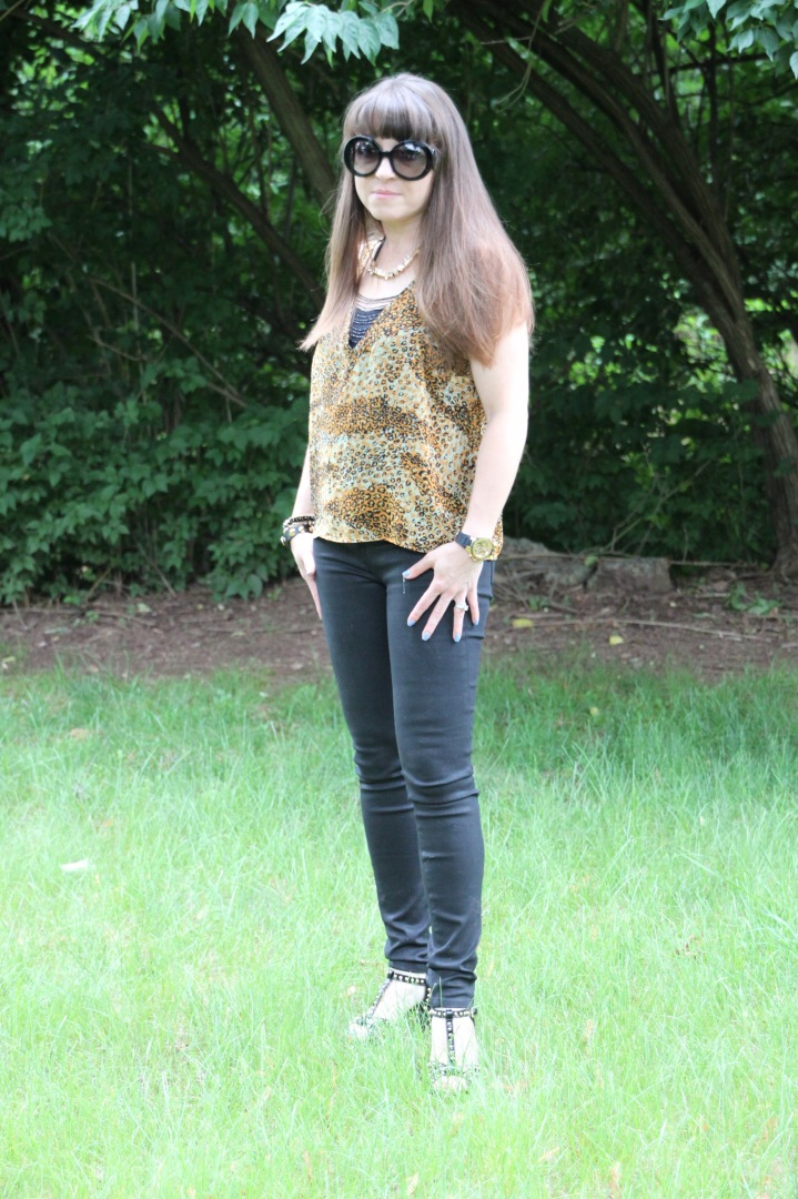 Animal Print Blouse - PJK