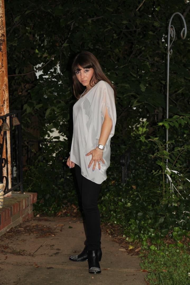 Asymmetrical Blouse - Helmut Lang Black Seamed Jeans - Helmut Lang