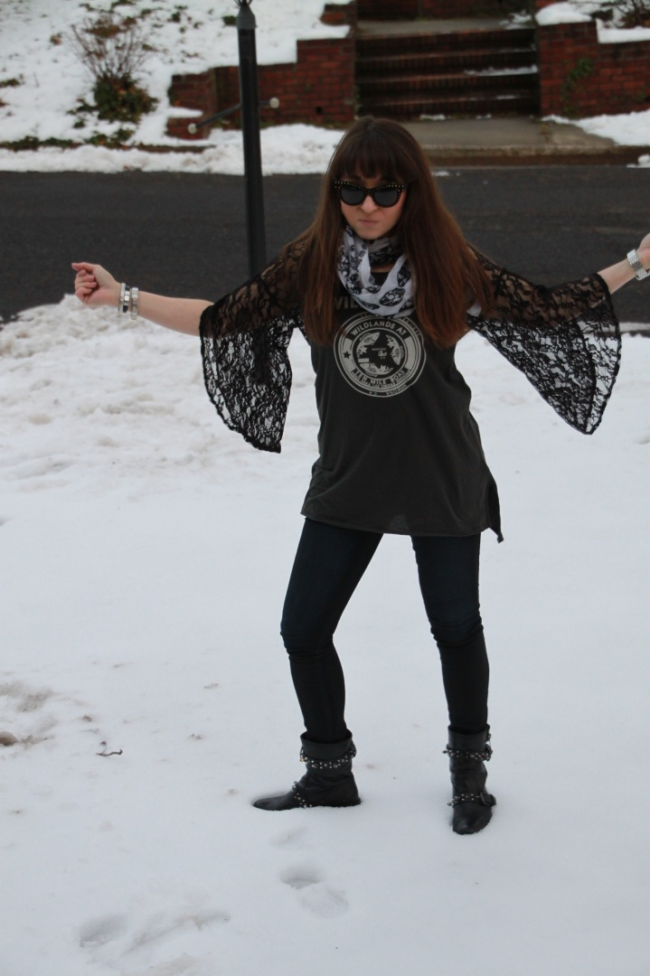Free People Lace Sleeves