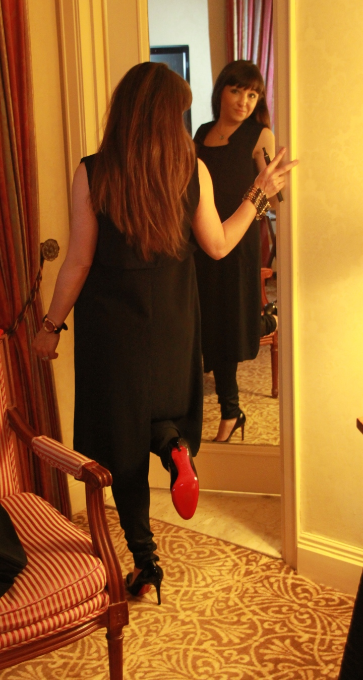 Mirror Image Red Bottom