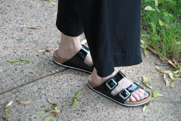 Black Patent Birkenstocks