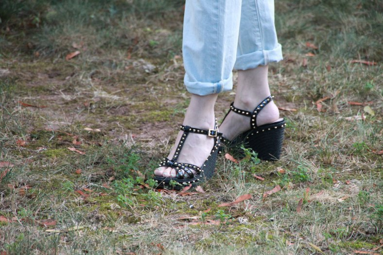 Vince Camuto Studded Wedge
