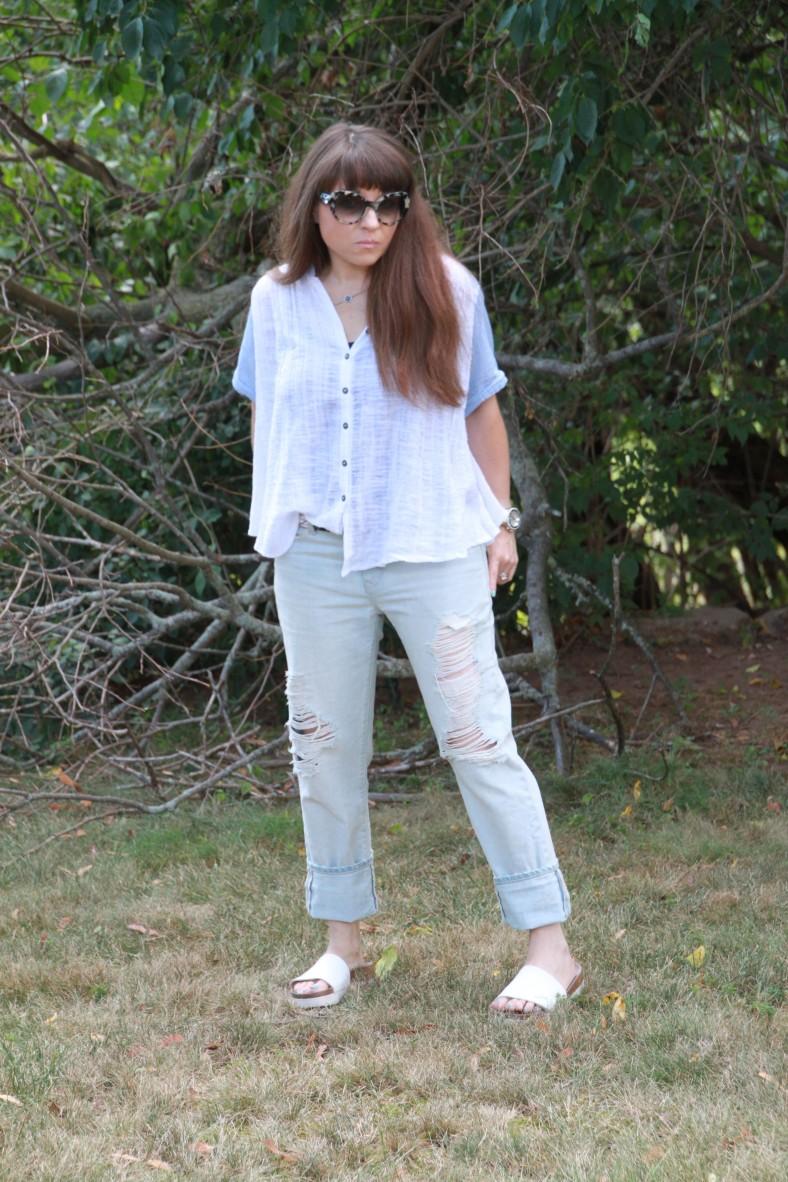 Gap Ripped Boyfriend Jeans