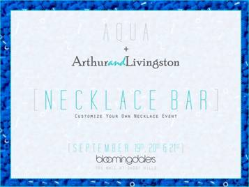 Arthur and Livingston Necklace Bar Event and a GIVEAWAY! (2/2)