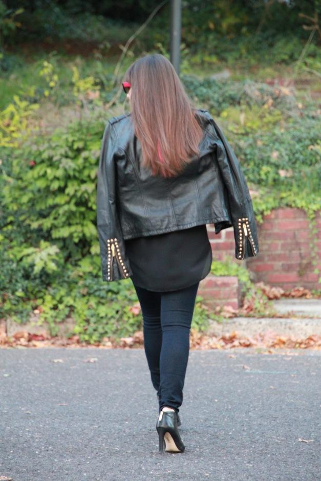 Aqua Leather Jacket