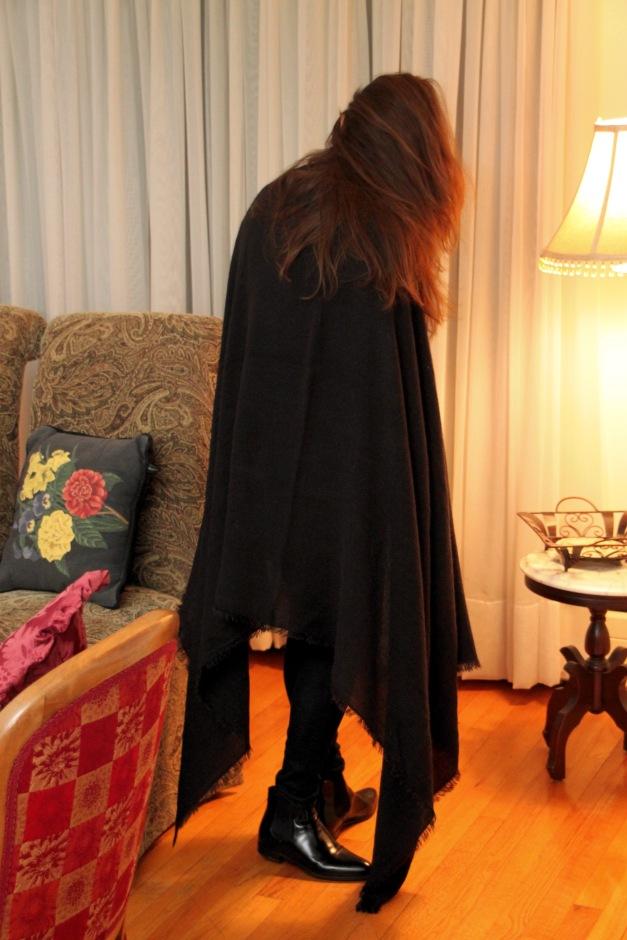 Long Black Wrap