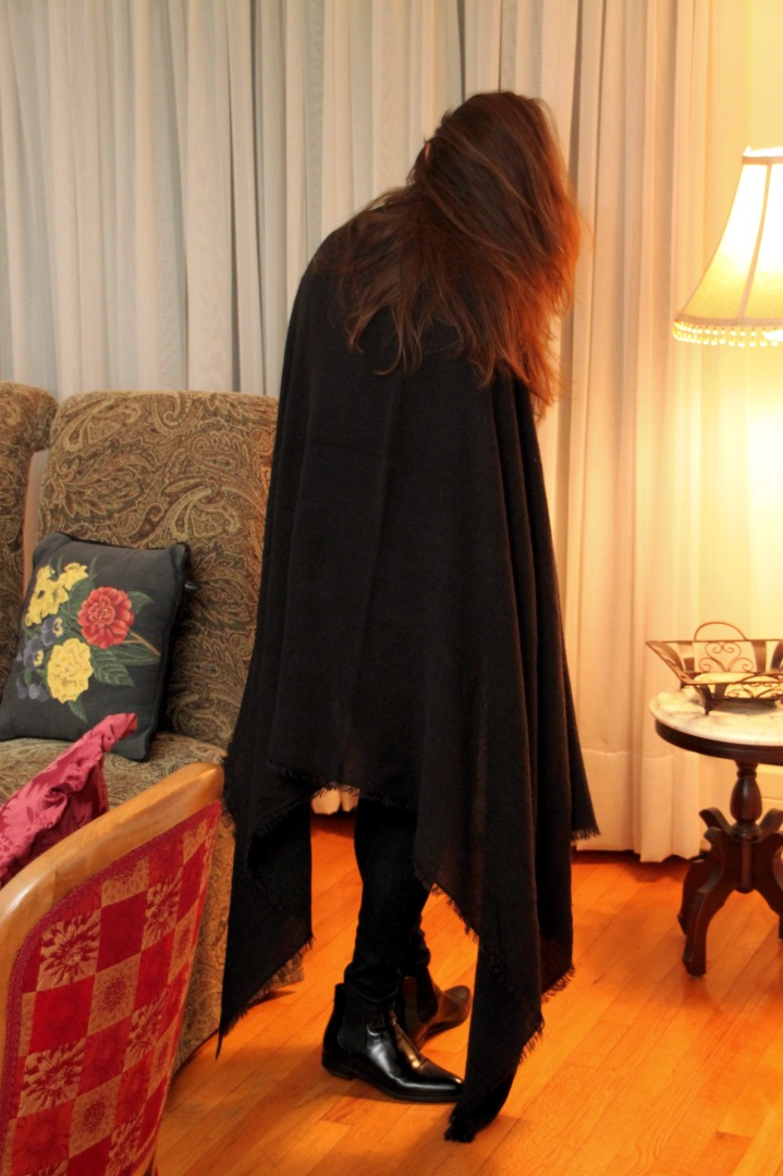 Long Black Wrap